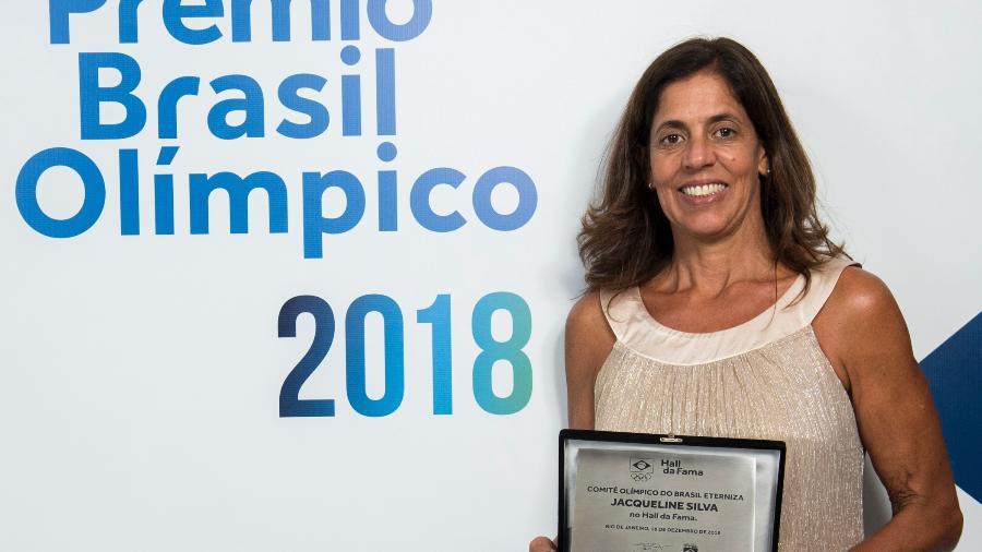 Jacqueline Silva recebeu homenagem - Alexandre Loureiro/COB