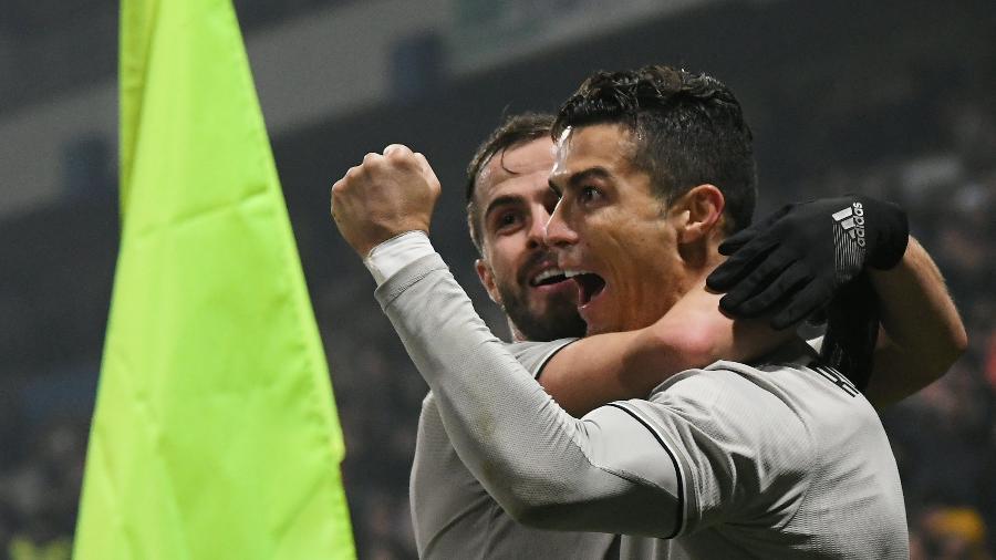 CR7 marca contra o Sassuolo -  REUTERS/Alberto Lingria