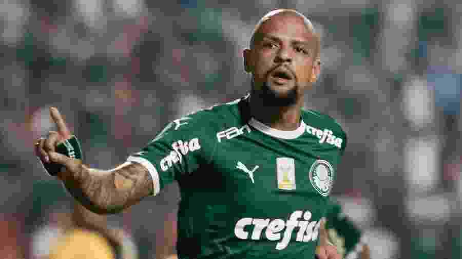 Felipe Melo foi liberado do treino pelo Palmeiras por causa de febre - Marcello Zambrana/AGIF