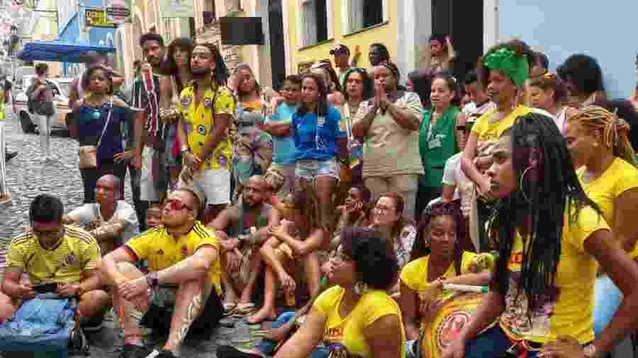 Turistas colombianos se misturaram com torcida do Brasil em Salvador - Gabriel Carneiro/UOL