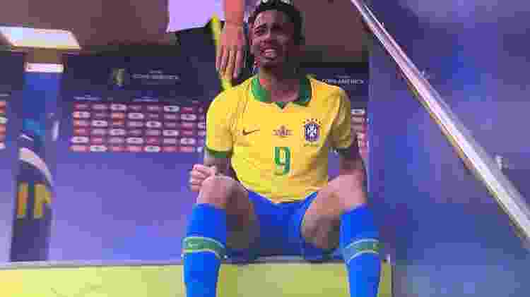 Gabriel Jesus chora Maracanã - Reprodução - Reprodução