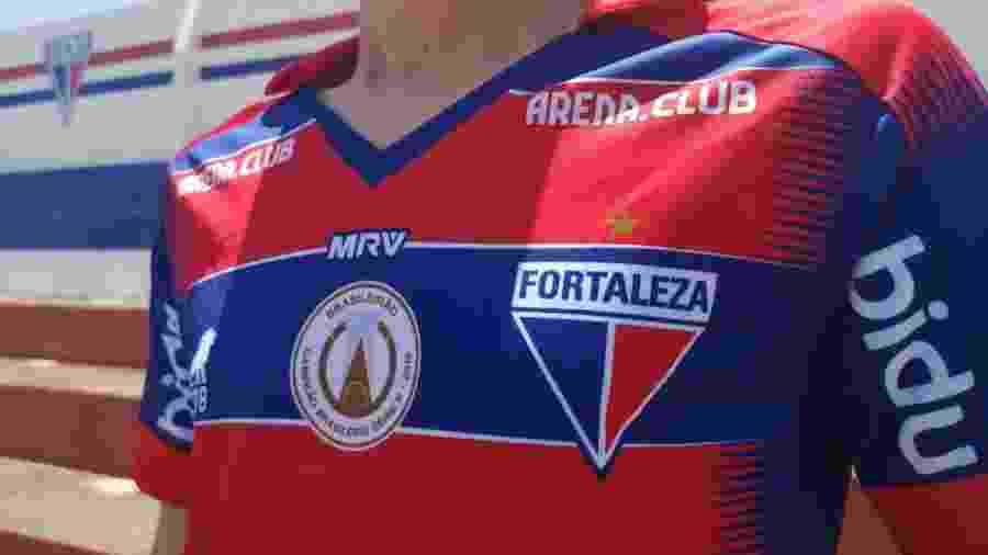 Detalhes da nova camisa popular do Fortaleza - Leonardo Moreira/Fortaleza EC