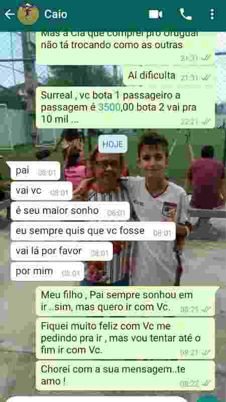 Luiz Marcelo e o filho Caio emocionaram a todos com história de ida à Fla x River - Arquivo Pessoal - Arquivo Pessoal