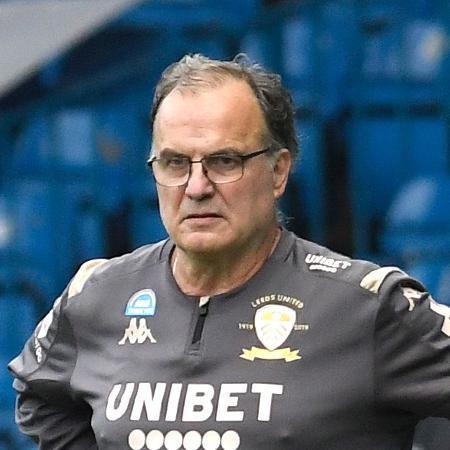 Marcelo Bielsa, técnico do Leeds United, que disputa a Premier League - George Wood/Getty Images