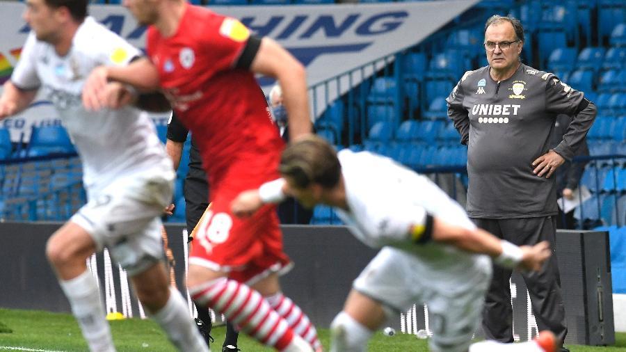 Marcelo Bielsa, técnico do Leeds - George Wood/Getty Images