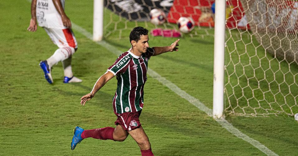 Paulo Henrique Ganso comemora gol marcado contra o Bangu, no Campeonato Carioca