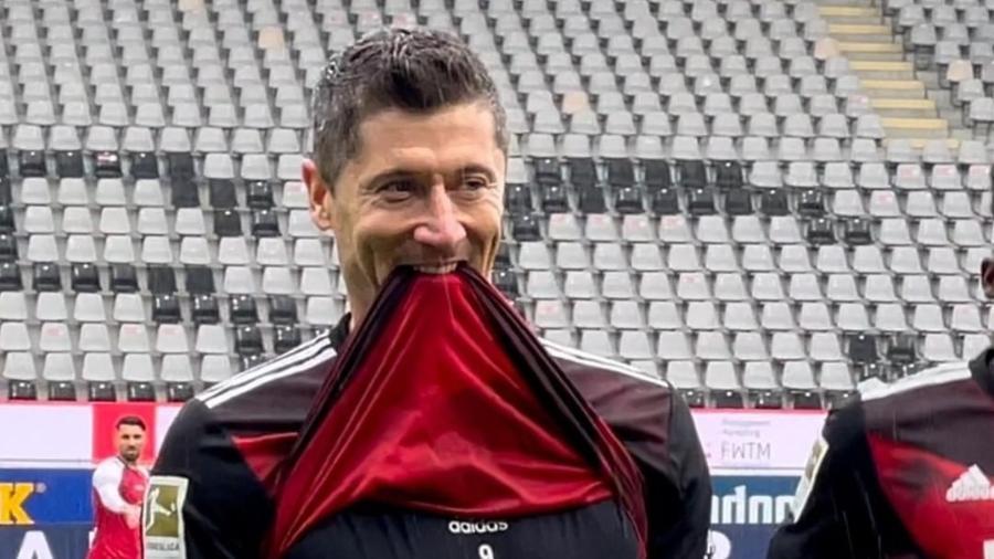 Robert Lewandowski marca pelo Bayern de Munique - Reprodução