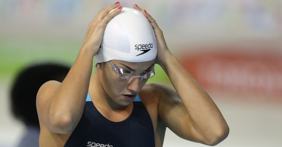 Gabrielle Roncatto se prepara para a prova dos 200m medley