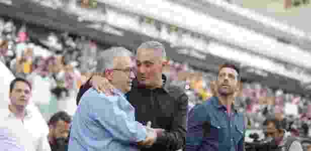 Tite foi homenageado na Arena Corinthians neste domingo -  Danilo Verpa/Folhapress