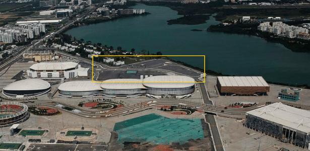Detalhe da área do Parque Olímpico onde o Fluminense pretende construir estádio