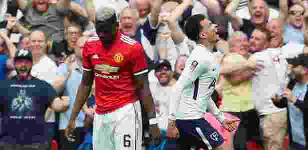Dele Alli comemora gol contra o Manchester United em semifinal da Copa da Inglaterra - David Klein/REUTERS - David Klein/REUTERS