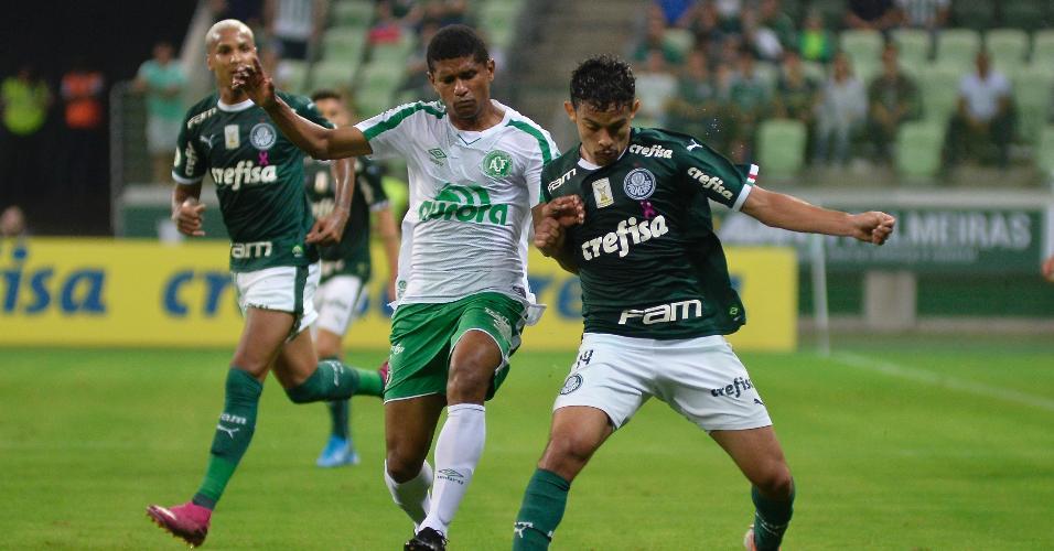 Gustavo Scarpa, durante partida entre Palmeiras e Chapecoense