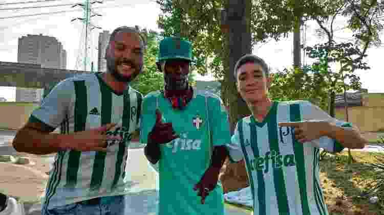 Marcos Lopes foi quem levou Fábio, morador de rua na Penha, para conhecer o Allianz Parque - Arquivo pessoal - Arquivo pessoal