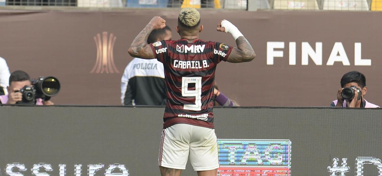 Gabigol faz gol e dá vitória ao Flamengo em final da Libertadores - Ernesto BENAVIDES / AFP