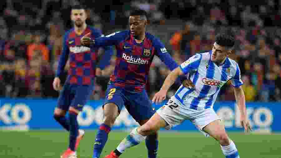 Barcelona x Real Sociedad em partida pelo Campeonato Espanhol - LLUIS GENE / AFP