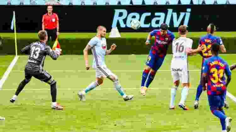 Suárez gol de cabeça Celta x Barcelona - FCBarcelona/Twitter - FCBarcelona/Twitter