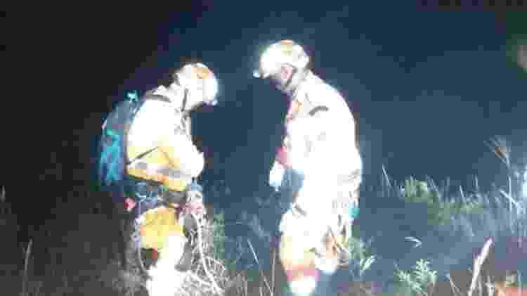Resgate Henrique 2 - Divulgação/Corpo de Bombeiros - Divulgação/Corpo de Bombeiros