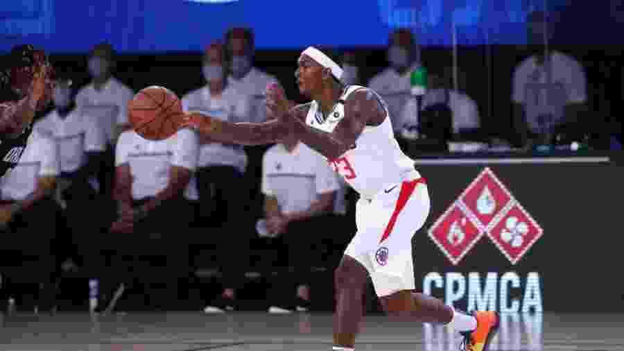 22.jul.2020 - Lou Williams em partida do Los Angeles Clippers - NBAE via Getty Images