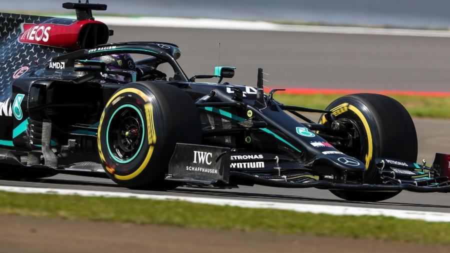 Lewis Hamilton, da Mercedes, durante os treinos livres do GP da Grã-Bretanha - LAT Images/Mercedes