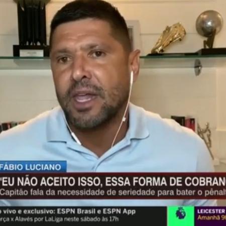 Fábio Luciano critica Otero do Corinthians - Reprodução/ESPN