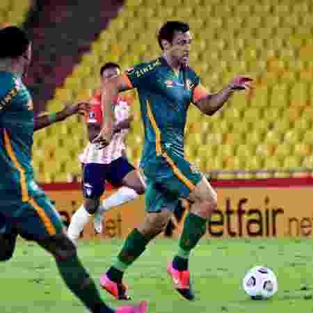 Fred em ação pelo Fluminense contra o Junior Barranquilla pela Libertadores - Mailson Santana/Fluminense FC - Mailson Santana/Fluminense FC