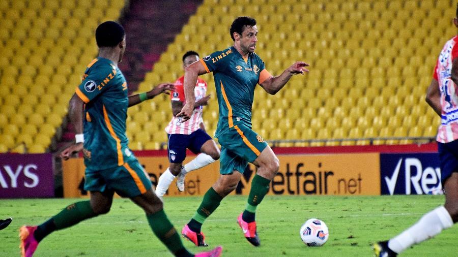 Fluminense de Fred arrancou empate com Junior (COL) em Guayaquil e segue líder do grupo D da Libertadores - Mailson Santana/Fluminense FC