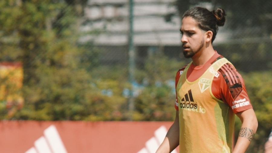 Martín Benítez, durante treino do São Paulo, no CT da Barra Funda - Fellipe Lucena/São Paulo FC