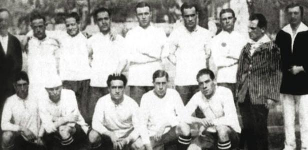 Seleção do Uruguai derrotou o Brasil por 6 a 0 no Sul-Americano de 1920 - Conmebol/Divulgação