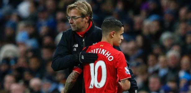 Klopp e Coutinho: um recomeço no Liverpool