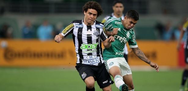 Victor Ferraz lamenta chute na trave na final da Copa do Brasil entre Santos e Palmeiras
