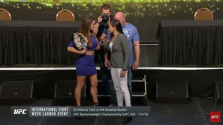 Brasileira Amanda Nunes, brasileira que disputará cinturão do UFC, encara Miesha Tate, dona do título