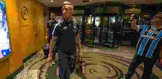 Grêmio chegou a Belo Horizonte no início da noite e foguetório ocorreu na madrugada - Lucas Uebel/Grêmio