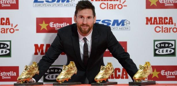 Lionel Messi ganhou a Chuteira de Ouro por sua atuação na última temporada