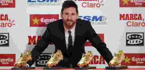 Lionel Messi ganhou a Chuteira de Ouro por sua atuação na última temporada - JOSEP LAGO/AFP