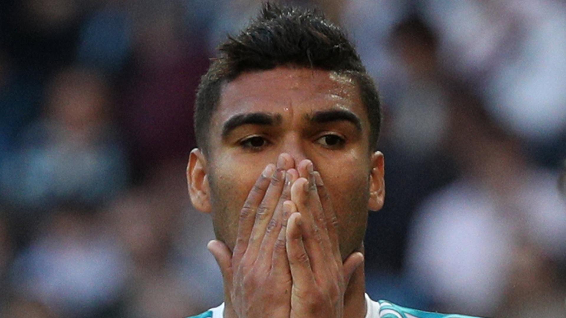 Casemiro, do Real Madrid, lamenta chance perdida