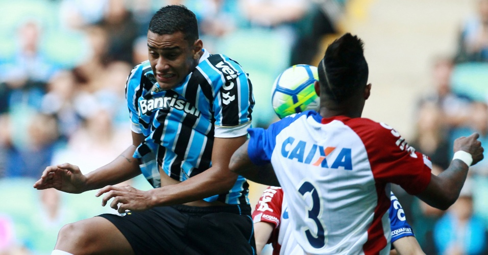 Thonny Anderson, do Grêmio, durante jogo contra o Paraná