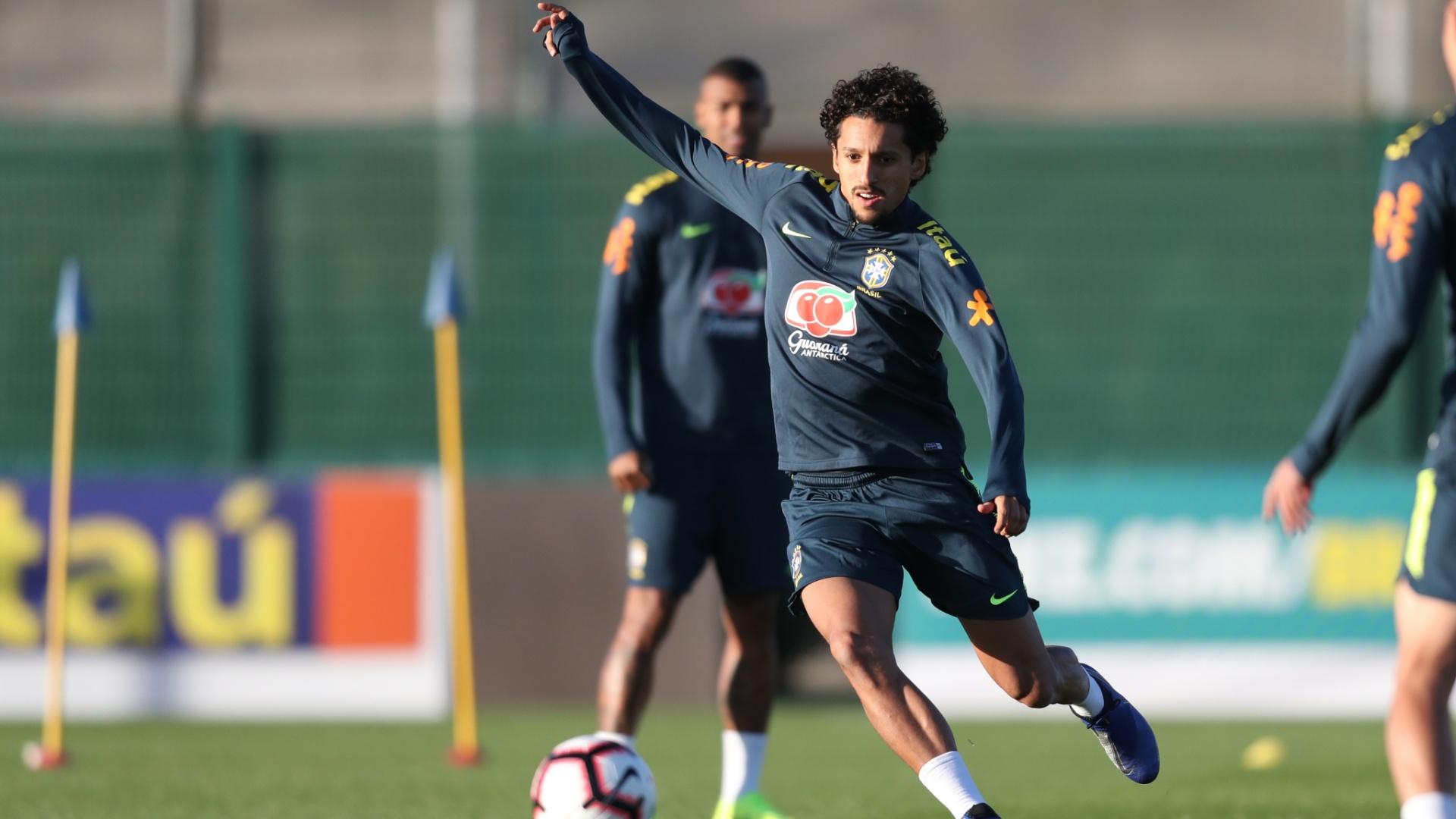 Marquinhos seleção brasileira treino Inglaterra