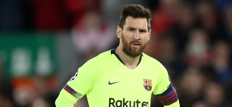 Messi, durante partida entre Barcelona e Liverpool - Reuters/Carl Recine