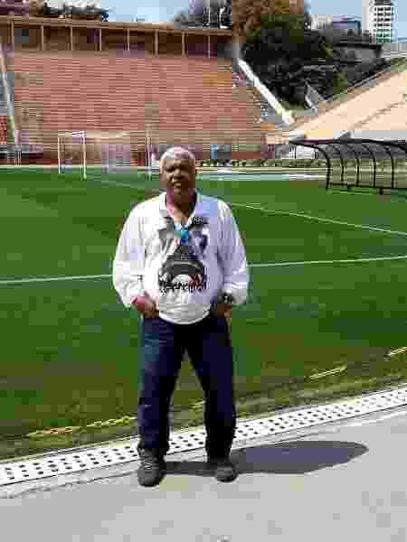 Ex-goleiro Juca Baleia no estádio do Pacaembu - Reprodução/Facebook - Reprodução/Facebook