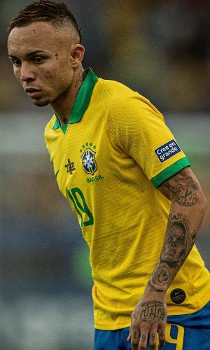 Everton Cebolinha, atacante da seleção brasileira
