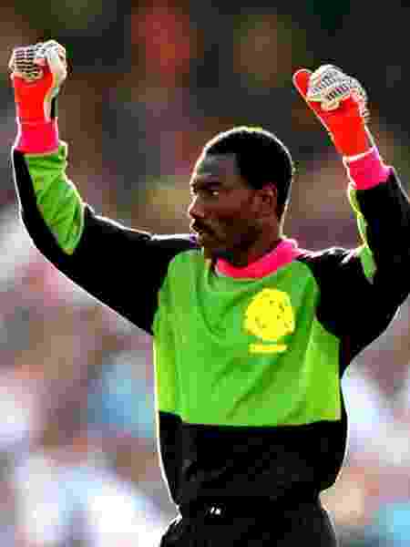 Thomas N'Kono, goleiro de Camarões em 1990 - Ross Kinnaird/EMPICS via Getty Images