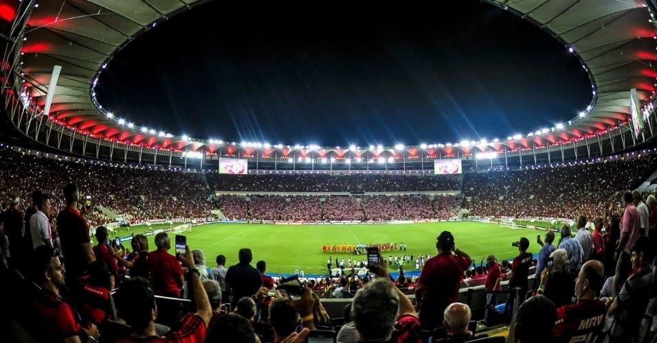 8 - 61.576 pessoas - Flamengo 0 x 1 Peñarol - 03/04 - Libertadores - 3ª rodada da fase de grupos
