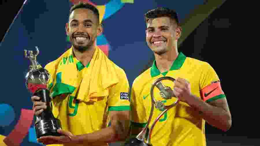 Matheus Cunha e Bruno Guimarães são destaques da seleção no Pré-Olímpico - Lucas Figueiredo/CBF