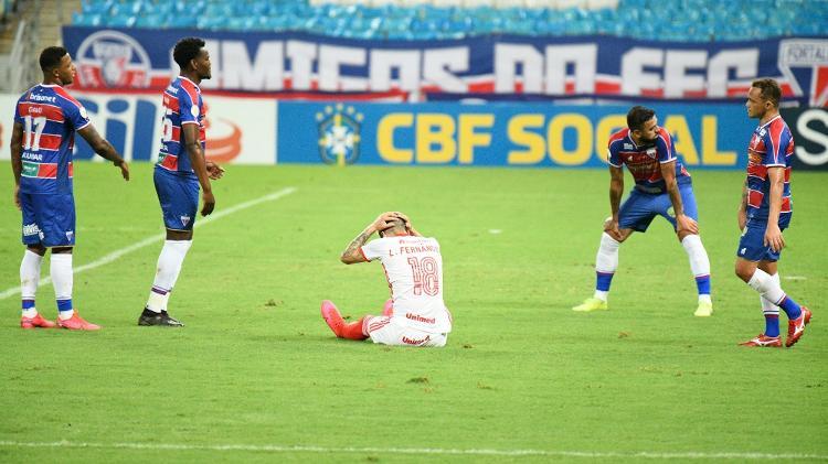 Lance do jogo entre Fortaleza e Inter, no Castelão, pelo Brasileirão - Kely Pereira/AGIF - Kely Pereira/AGIF