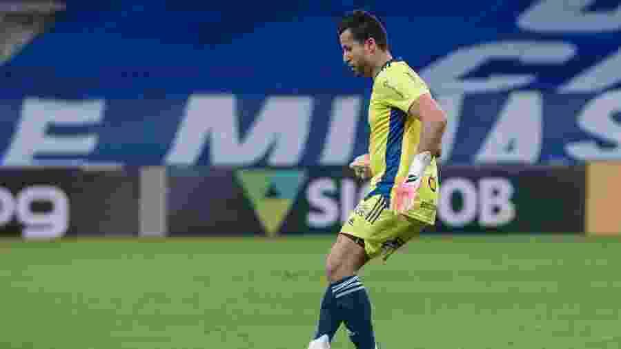 Fábio, goleiro do Cruzeiro em atuação no Mineirão - Gustavo Aleixo/Cruzeiro