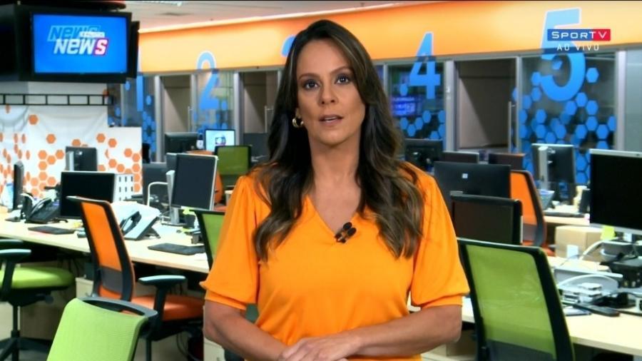 Fabíola Andrade: jornalista estreia como comentarista da Globo no Paulistão - Reprodução/SporTV