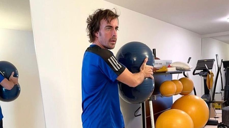 Piloto espanhol se prepara para a nova temporada da Fórmula 1, que começa no mês que vem - Reprodução/Instagram