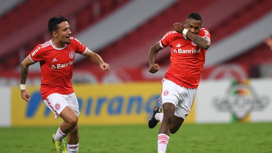 Edenilson comemora gol do Inter contra o Caxias, pelo Campeonato Gaúcho - Divulgação