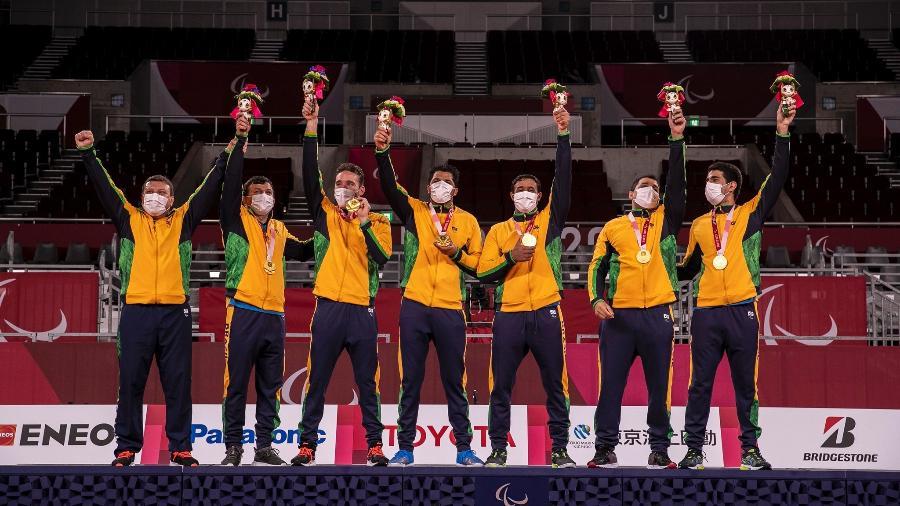 Seleção brasileira conquista ouro inédito no goalball - ALE CABRAL/CPB