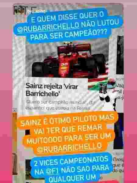 Rubens Barrichello - Reprodução/Instagram - Reprodução/Instagram